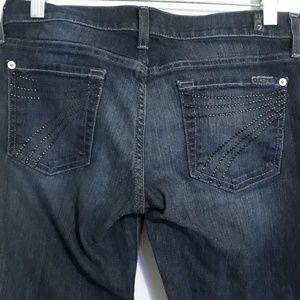 7 FAMK dojo flare jeans